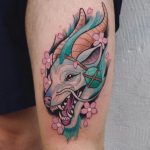 Anime style creature tattoo