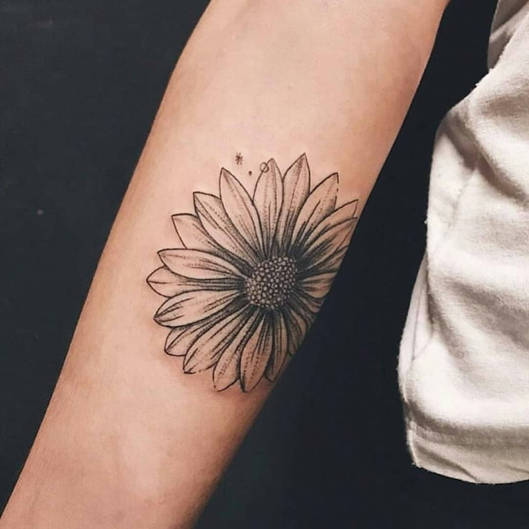 Forearm Sunflower Flower Tattoos