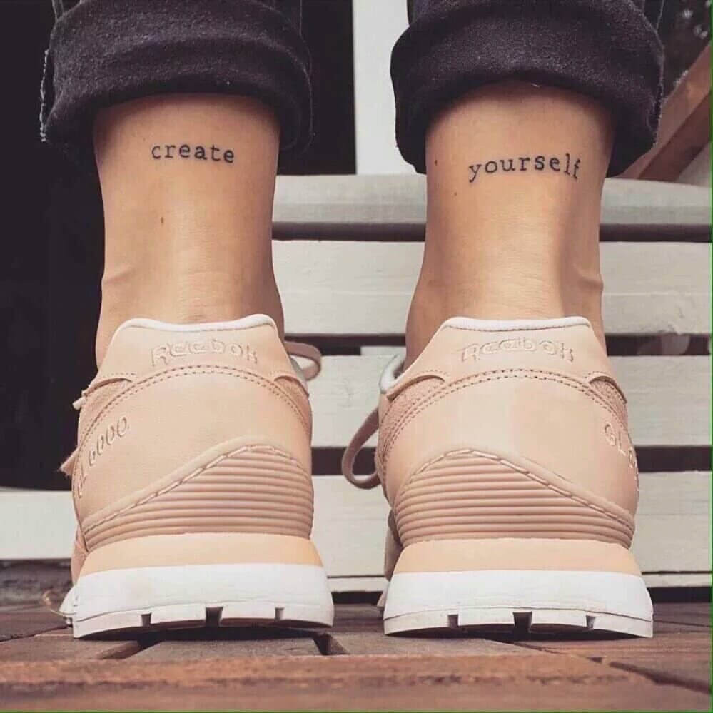 Create Yourself quote tattoo