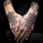 Geometric pattern tattoo 1
