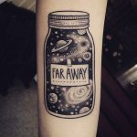 Jar tattoo on the arm