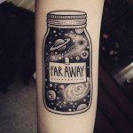 Jar tattoo on the arm