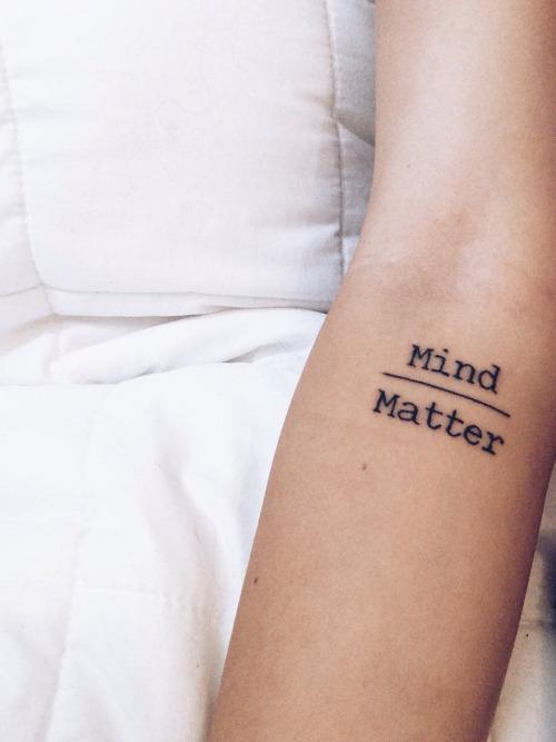 Mind matter tattoo