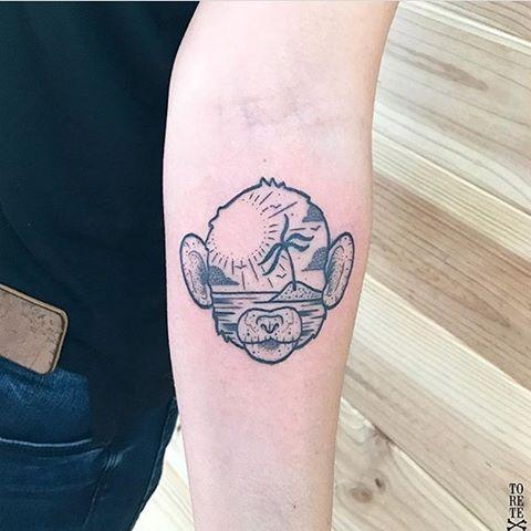 Monkey Tattoo Tattoogrid Net
