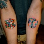 Rubiks Cube Tattoo