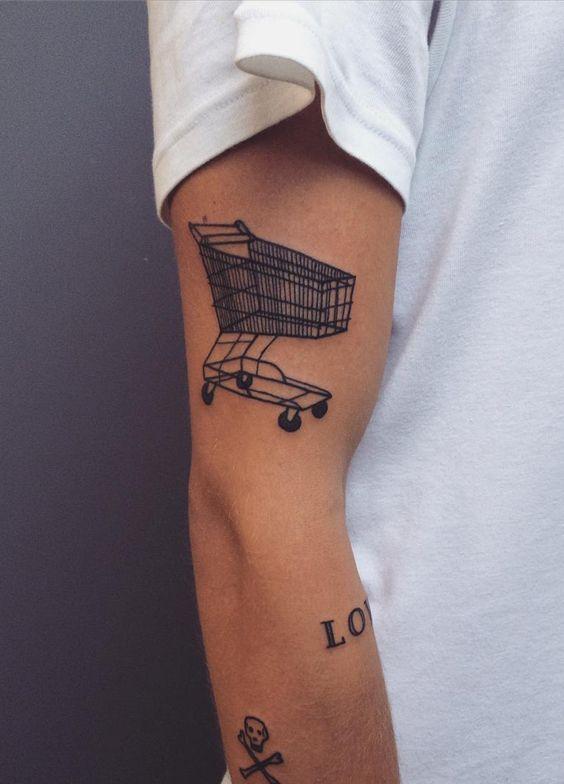 Shopping cart tattoo