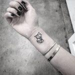 Small geometric fox tattoo