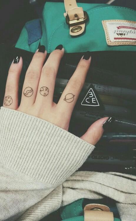 Solar system planet tattoos