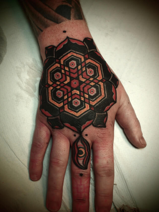 Traditional mandala tattoo