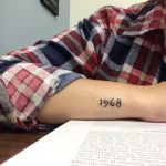 1968 date tattoo on the wrist