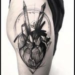 Abstract black heart tattoo