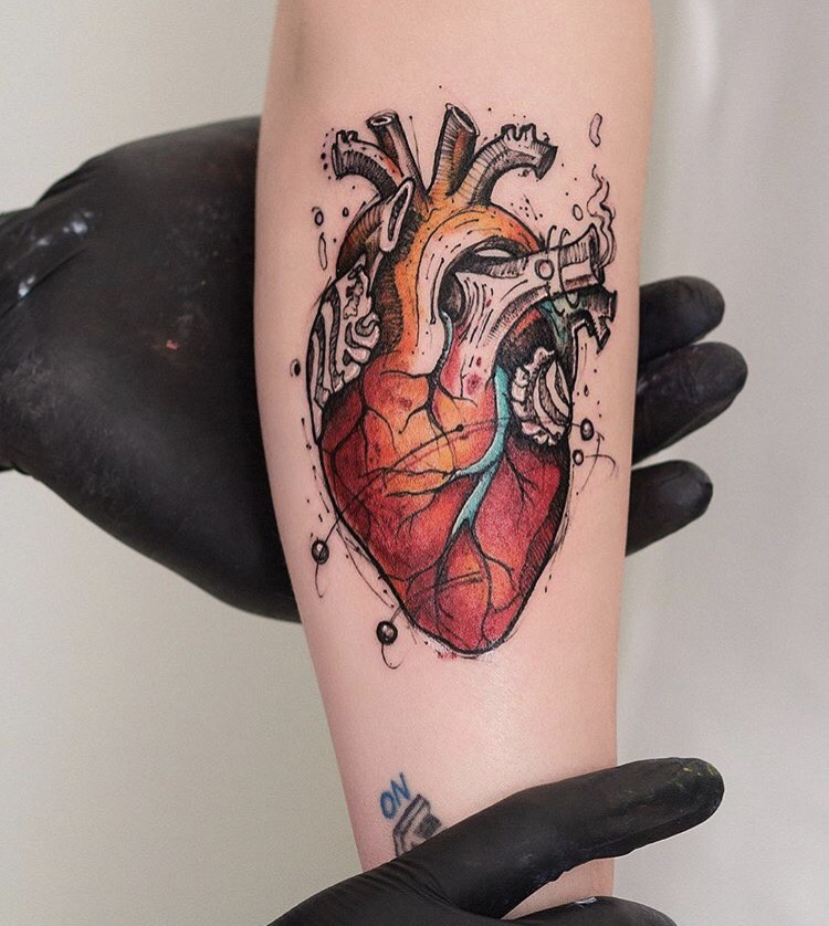 Anatomical Heart Tattoo Tattoogrid