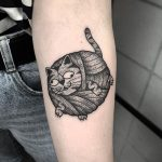 Balloon cat tattoo
