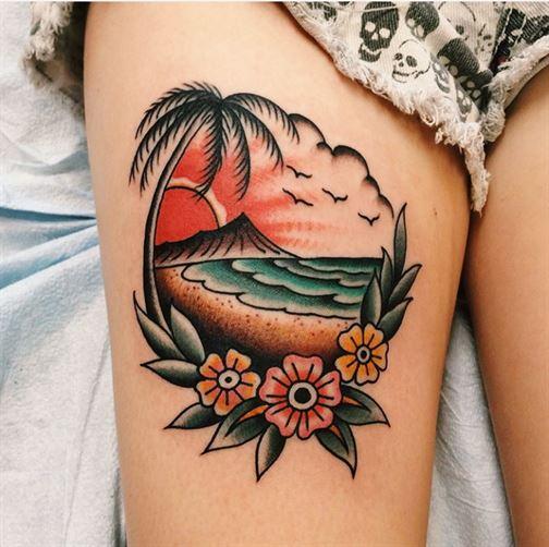 Beach Scenery tattoo