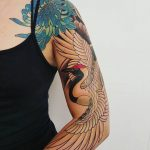 Bird sleeve tattoo