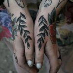 Black branches tattoo