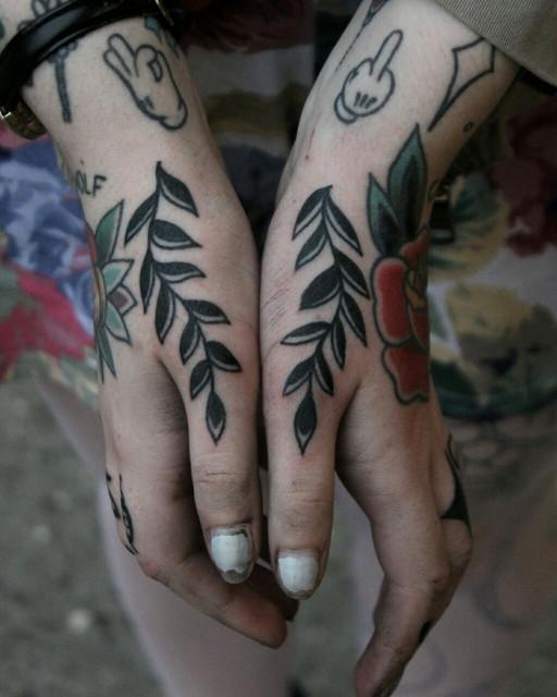Black branches tattoo