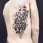 Black dotwork tiger tattoo