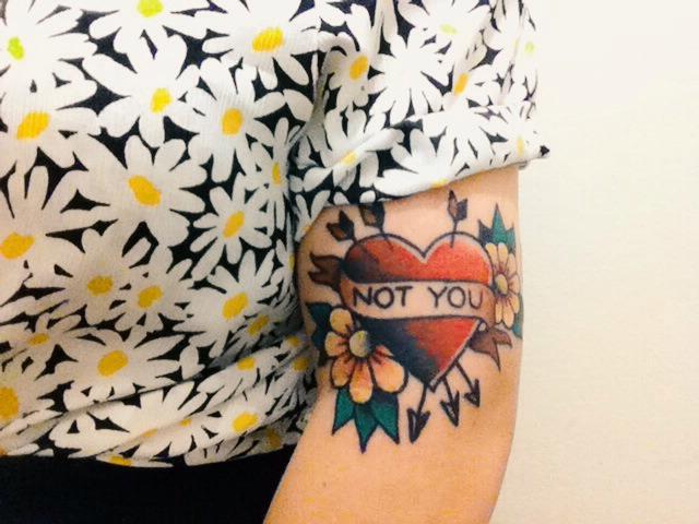 Broken love tattoo