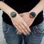 Circular landscape tattoos