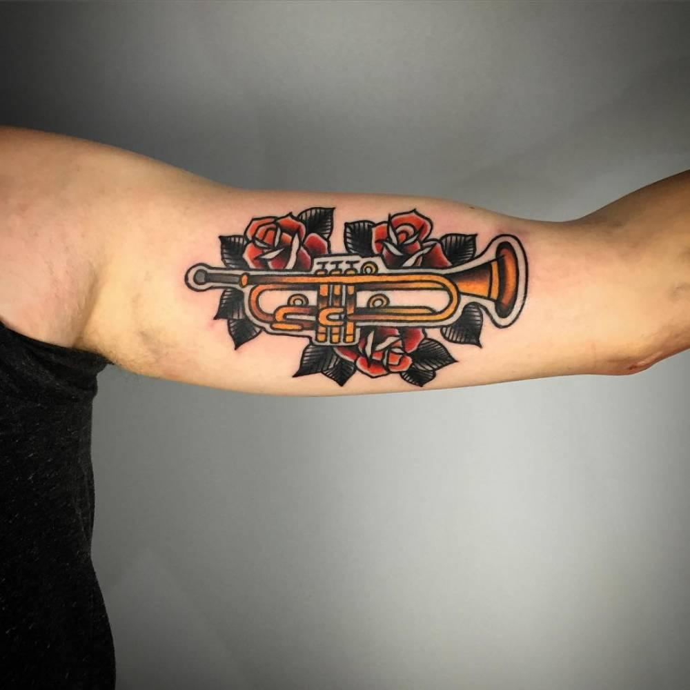 Classic trumpet tattoo