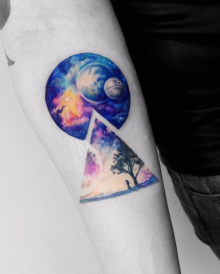 Cosmos inspired tattoo