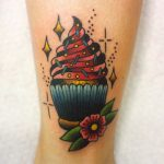 Cute cupcake tattoo