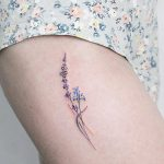 Delicate minimal flowers tattoo