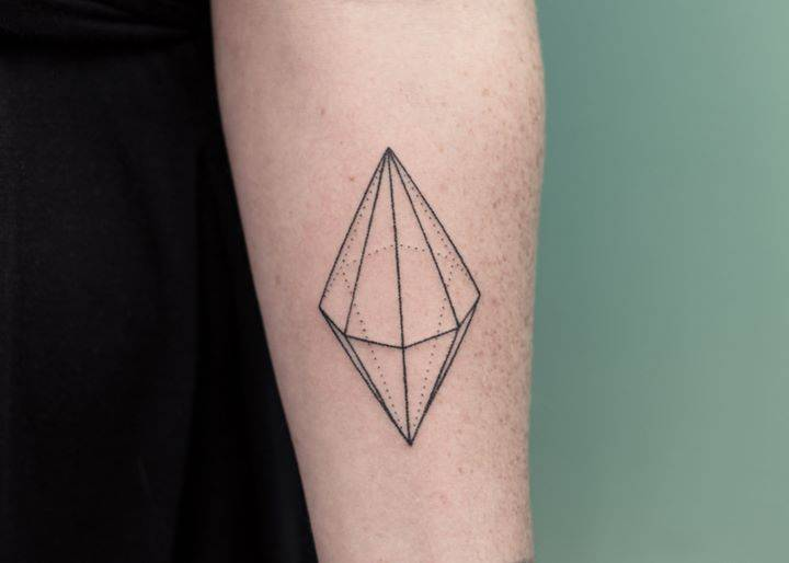 Double cone tattoo
