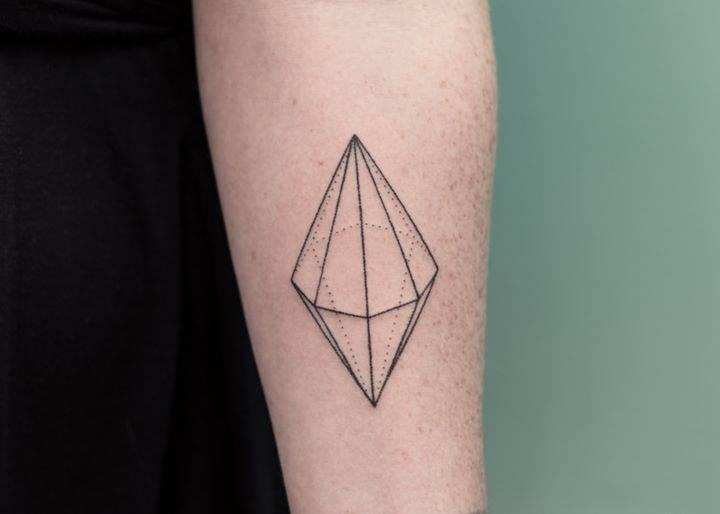 Double cone tattoo