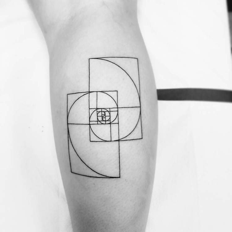 Double golden ratio tattoo