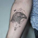 Hawk head tattoo