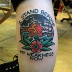 I stand before my weakness now tattoo