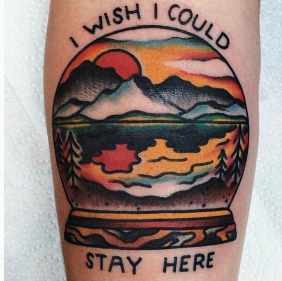 I wish i could stay here tattoo
