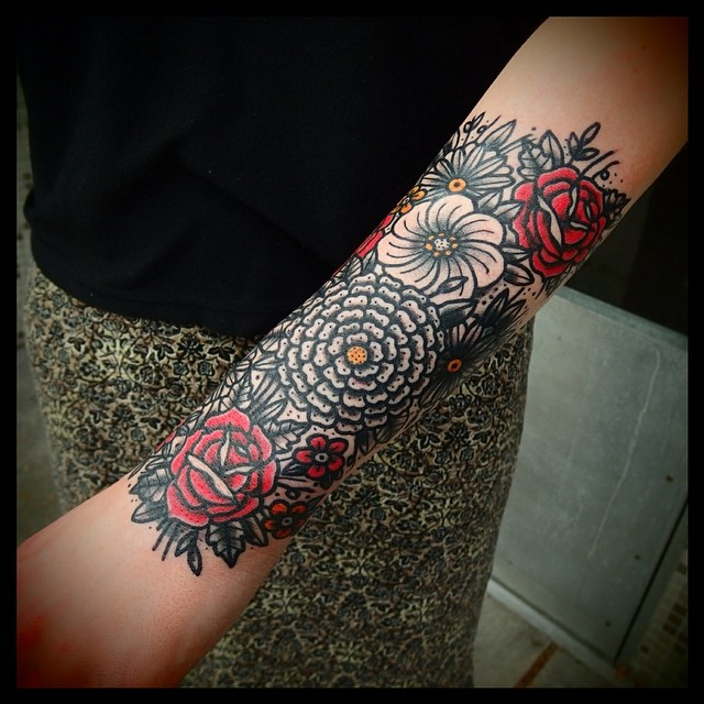 Intense floral tattoo