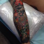 Japanese traditional full sleeve tattoo