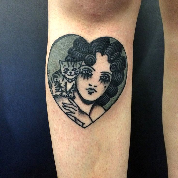 Lady with a cat tattoo