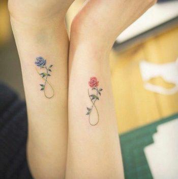 Matching infinity symbol tattoos