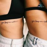 Matching quote tattoos