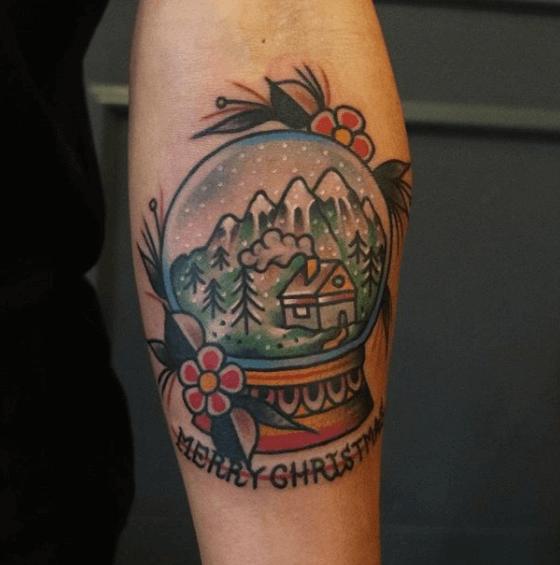 Merry christmas tattoo
