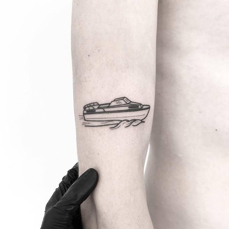 Motorboat tattoo
