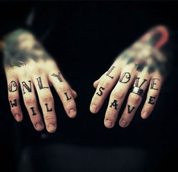 Only love will save tattoo