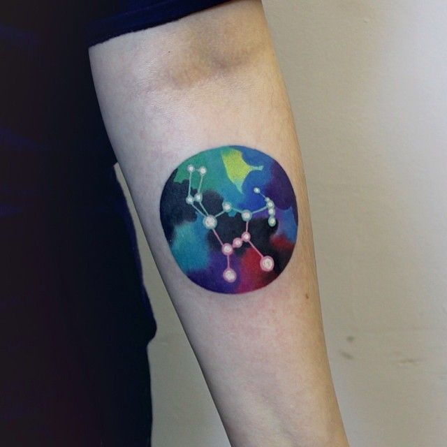 Orion constellation tattoo on the arm