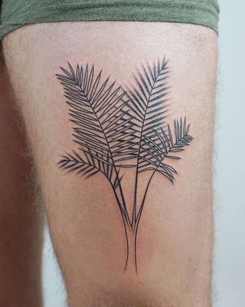 Palm branches tattoo