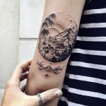 Paradise island circular tattoo