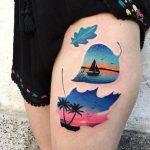 Paradise landscape tattoo