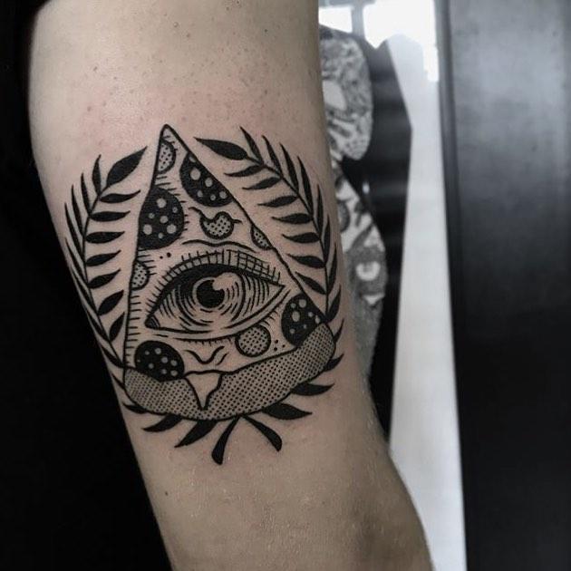 Pizza slice tattoo