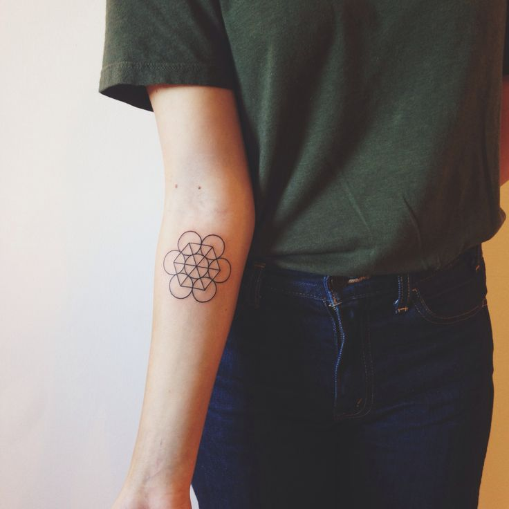 Seed of life tattoo on the arm