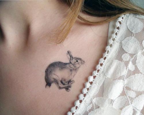 Small rabbit tattoo