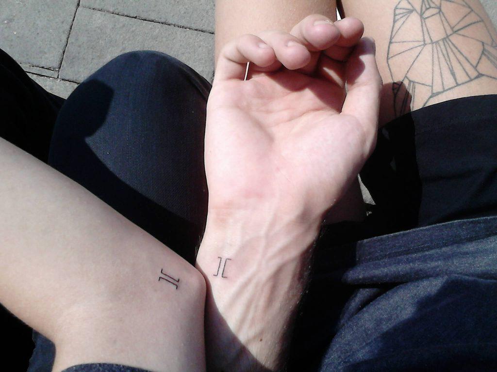 Square brackets matching tattoos